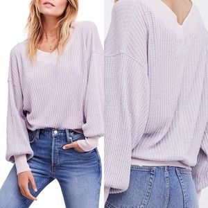 We the Free South Side Thermal Top Lilac NWT